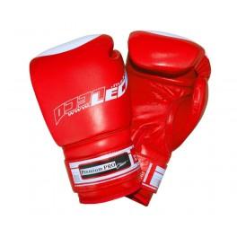 Перчатки боксерские 8 унц.красные, Премиум ПРО