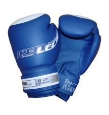 Перчатки боксерские 8 унц. синие ПРО