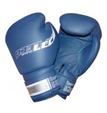 Перчатки боксерские 12унц. синие ПРО