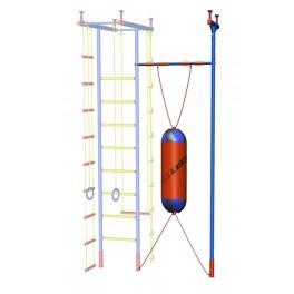 Дополнительная стойка к ДСК Leco-IT выс. 2,35 - 3,20 м с перекладиной гимнастической и боксерским мешком