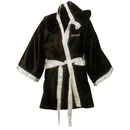 Боксерский халат бело-черный разм. S