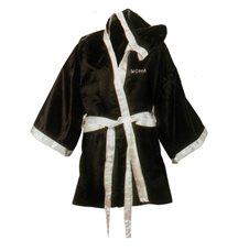 Боксерский халат бело-черный разм. L