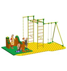 Puzzle + GigaBloks Playground для уличного спортивного комплекса Leco-IT Outdoor 2,3 х 2,8 м