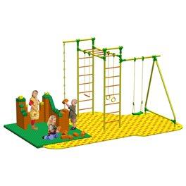Puzzle + GigaBloks Playground для уличного спортивного комплекса Leco-IT Outdoor 2,3 х 2,8 м