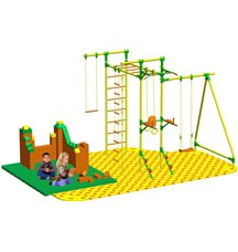 Puzzle + GigaBloks Playground для уличного спортивного комплекса Leco-IT Outdoor 2,7 х 2,8 м