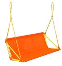 Качели дачные трехместные без каркаса Leco-IT Outdoor Оранж