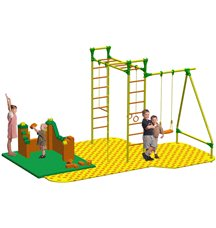 Puzzle + GigaBloks Playground для уличного спортивного комплекса Leco-IT Street 2,6 х 3,0 м