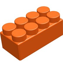 """Элемент GigaBloks 5"""" 4 х 2 оранжевый"""