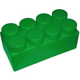 """Элемент GigaBloks 5"""" 4 х 2 зеленый"""