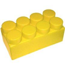 """Элемент GigaBloks 5"""" 4 х 2 желтый"""