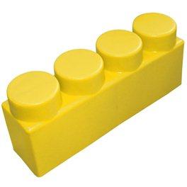 """Элемент GigaBloks 5"""" 4 х 1 желтый"""