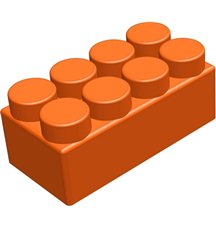 """Элемент GigaBloks 10"""" 4 х 2 оранжевый"""