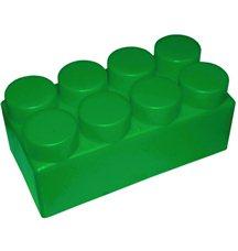 """Элемент GigaBloks 10"""" 4 х 2 зеленый"""
