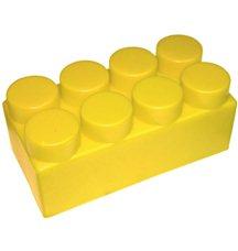 """Элемент GigaBloks 10"""" 4 х 2 желтый"""