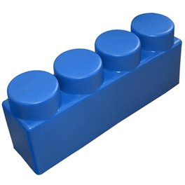 "Элемент GigaBloks 10"" 4 х 1 синий"