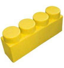 """Элемент GigaBloks 10"""" 4 х 1 желтый"""