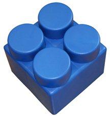 "Элемент GigaBloks 10"" 2 х 2 синий"