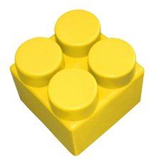 """Элемент GigaBloks 10"""" 2 х 2 желтый"""
