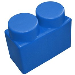 "Элемент GigaBloks 10"" 2 х 1 синий"
