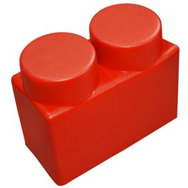 """Элемент GigaBloks 10"""" 2 х 1 красный"""