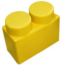 """Элемент GigaBloks 10"""" 2 х 1 желтый"""