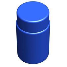 """Цилиндрический элемент GigaBloks 10"""" синий"""