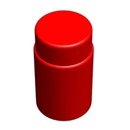 """Цилиндрический элемент GigaBloks 10"""" красный"""
