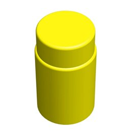 "Цилиндрический элемент GigaBloks 10"" желтый"