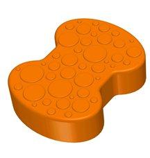Соединительный элемент пазлового покрытия для игровых площадок Leco-IT оранжевый
