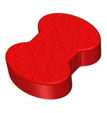 Соединительный элемент пазлового покрытия для игровых площадок Leco-IT красный