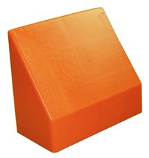 "Наклонный элемент GigaBloks 10"" 2 х 1 оранжевый"