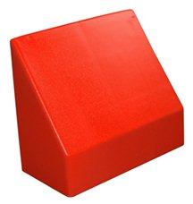 """Наклонный элемент GigaBloks 10"""" 2 х 1 красный"""