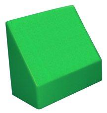 """Наклонный элемент GigaBloks 10"""" 2 х 1 зеленый"""