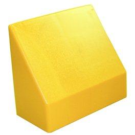 "Наклонный элемент GigaBloks 10"" 2 х 1 желтый"