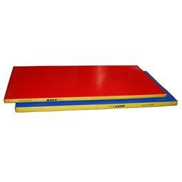 Мат гимнастический 1 х 2 х 0,08м трехцветный