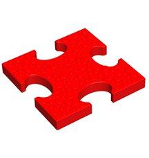 Основной элемент пазлового покрытия для игровых площадок Leco-IT красный