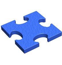Основной элемент пазлового покрытия для игровых площадок Leco-IT синий