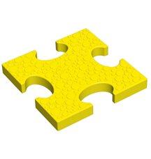 Основной элемент пазлового покрытия для игровых площадок Leco-IT желтый