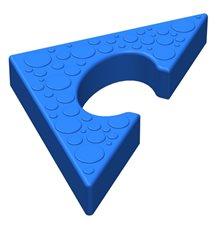 Треугольный элемент пазлового покрытия для игровых площадок Leco-IT синий
