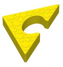 Треугольный элемент пазлового покрытия для игровых площадок Leco-IT желтый