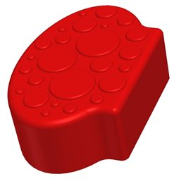 Заглушающий элемент пазлового покрытия для игровых площадок Leco-IT красный