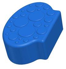 Заглушающий элемент пазлового покрытия для игровых площадок Leco-IT синий