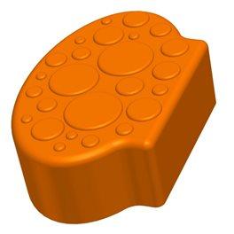 Заглушающий элемент пазлового покрытия для игровых площадок Leco-IT оранжевый