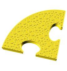 Элемент на радиус 25 см пазлового покрытия для игровых площадок Leco-IT желтый