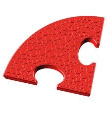 Элемент на радиус 25 см пазлового покрытия для игровых площадок Leco-IT красный