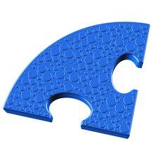 Элемент на радиус 25 см пазлового покрытия для игровых площадок Leco-IT синий