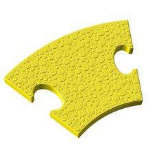 Элемент на радиус 50 см пазлового покрытия для игровых площадок Leco-IT желтый