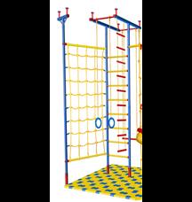 Детский спорткомплекс распорный с веревочной сеткой