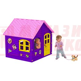 Домик фиолетово-розовый 120 х 120 см