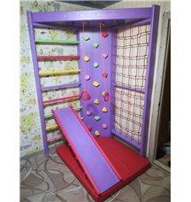Спортивная стенка для детей - Sport 4 со скалодромом
